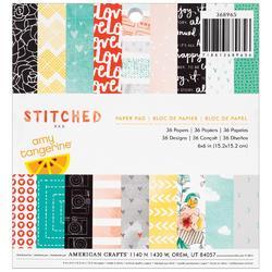 """Stitched Paper Pad 6""""x6"""" 36 pkg - 1"""