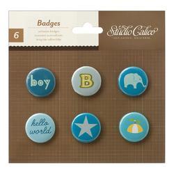 Story Time Boy Self-Adhesive Badges