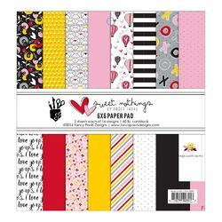 "Sweet Nothings Single-Sided Paper Pack 6""X6"" 32/Pkg"