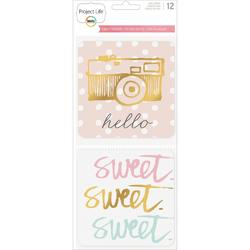 "Sweet Project Life Die-Cut Card Pack 4""x4"" 12 pkg - 1"