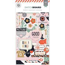 Switchboard Chipboard Stickers Flip Pack 3 sheets