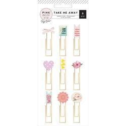 Take Me Away Epoxy Paper Clips 9/Pkg