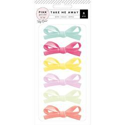Take Me Away Fabric Bows 6/Pkg