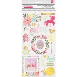"""Take Me Away Wildheart/Chipboard Thickers Stickers 5.5""""X11"""""""