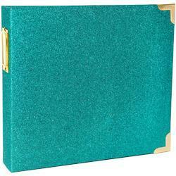 "Teal Glitter Ring Album 8""x8"" - 1"