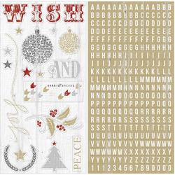 "Tinsel  & Company Adhesive Chipboard 12""X6"" Sheets 2/Pkg - 1"
