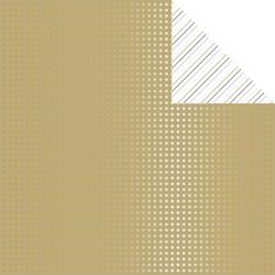 "Tinsel & Company Gold Dots Foiled Double-Sided Cardstock 12""x12"""
