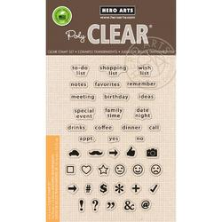 To Do List Clear Stamps