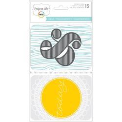 Transparencies Themed Cards 15pkg - 1