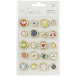True Stories Wooden Buttons 20 pkg - 1