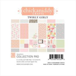 "Twirly Girl Paper Pad 6""x6"" 24 sheets"
