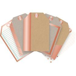 Typecast Copper Foil Mini Tags 12 pkg