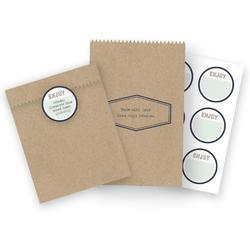 Typecast Kraft Treat Bags 6 pkg - 1