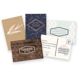 Typecast Mint Card & Envelope Set 6 pkg