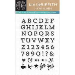 Vaulted Letters by Lia Clear Stamps - 1