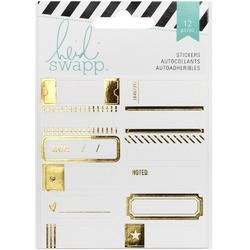 Wanderlust Gold Foil Label Stickers 12 pkg