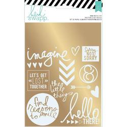 Wanderlust Sentiments/Gold Rub-On Foil Kit