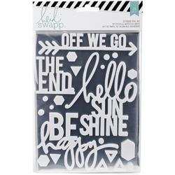 Wanderlust Silver Sentiments Stickers & Foil Kit - 1