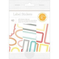 "Wanderlust Sticker Book Label 4""x6"" 6 sheets"