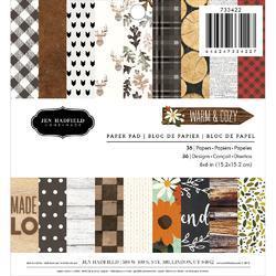 "Warm & Cozy Single-Sided Paper Pad 6""X6"" 36/Pkg"