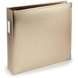 We R Faux Leather 3-Ring Binder 12x12 – GOLD