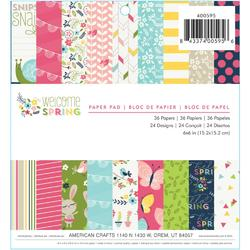"""Welcome Spring Paper Pad 6""""x6"""" 36 sheets"""