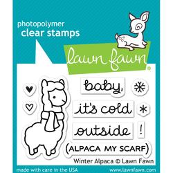 Winter Alpaca Clear Stamps - 1