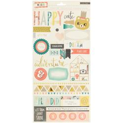 Wonder Journaling & Title Cardstock Stickers