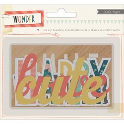 Wonder Phrases Cardstock Die-Cuts - 1