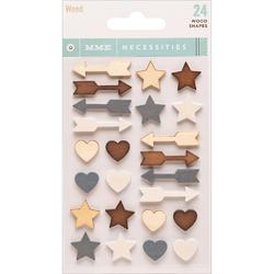 Wood Necessities Adhesive Shapes 24pkg - 1