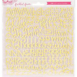 Yellow Script Foam Stickers - 1
