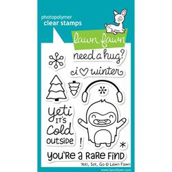 Yeti, Set, Go Clear Stamps - 1
