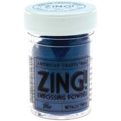Zing! Mettalic Embossing Powder - modrý - 1