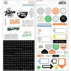 "Case Of The Blahs Cardstock Stickers 5.5""X11"" 2/Pkg - 2"