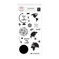 Horizon Clear Acrylic Stamps 20/Pkg - 2