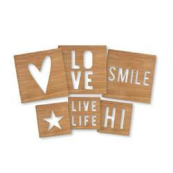 Hello Beautiful Wooden Pocket Cards Embellishments - 2