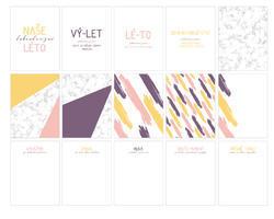 Léto PL kartičky 3x4 (Design A) - 2