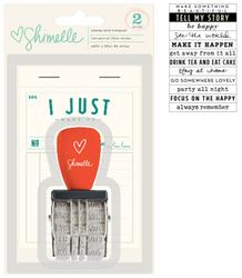 True Stories Phrase Roller Stamp & Notepad - 2