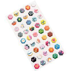 Brave & Bold Mini Puffy Stickers 45/Pkg - 2