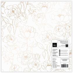 "Care Free Vellum W/Champagne Foil Specialty Paper 12""X12"" - 2"