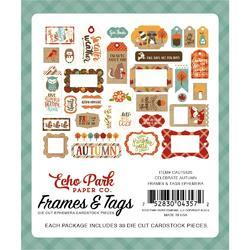 Celebrate Autumn Cardstock Frames & Tags Die-Cuts 33/Pkg - 2