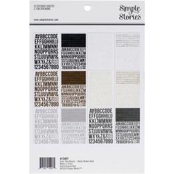 Color Vibe Basics Alpha Sticker Book 12/Sheets - 2
