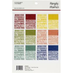 Color Vibe Bold Alpha Sticker Book 12/Sheets - 2