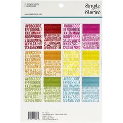 Color Vibe Brights Alpha Sticker Book 12/Sheets - 2