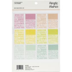Color Vibe Lights Alpha Sticker Book 12/Sheets - 2