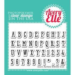"Elle's ABCs Clear Stamps 2""X3 - 2"