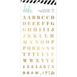 Emerson Lane Alpha Gold Stickers 140/Pkg - 2