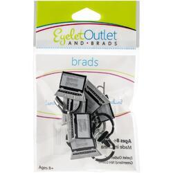 Shape Laptop & Headphone Brads 12/Pkg - 2