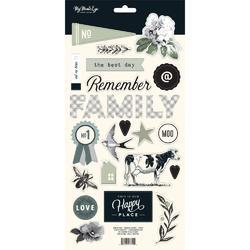 "Gingham Farm Chipboard Elements 6""X12"" 2/Pkg - 2"