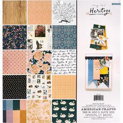 "Heritage Single-Sided Paper Pad 12""X12"" 48/Pkg - 2"